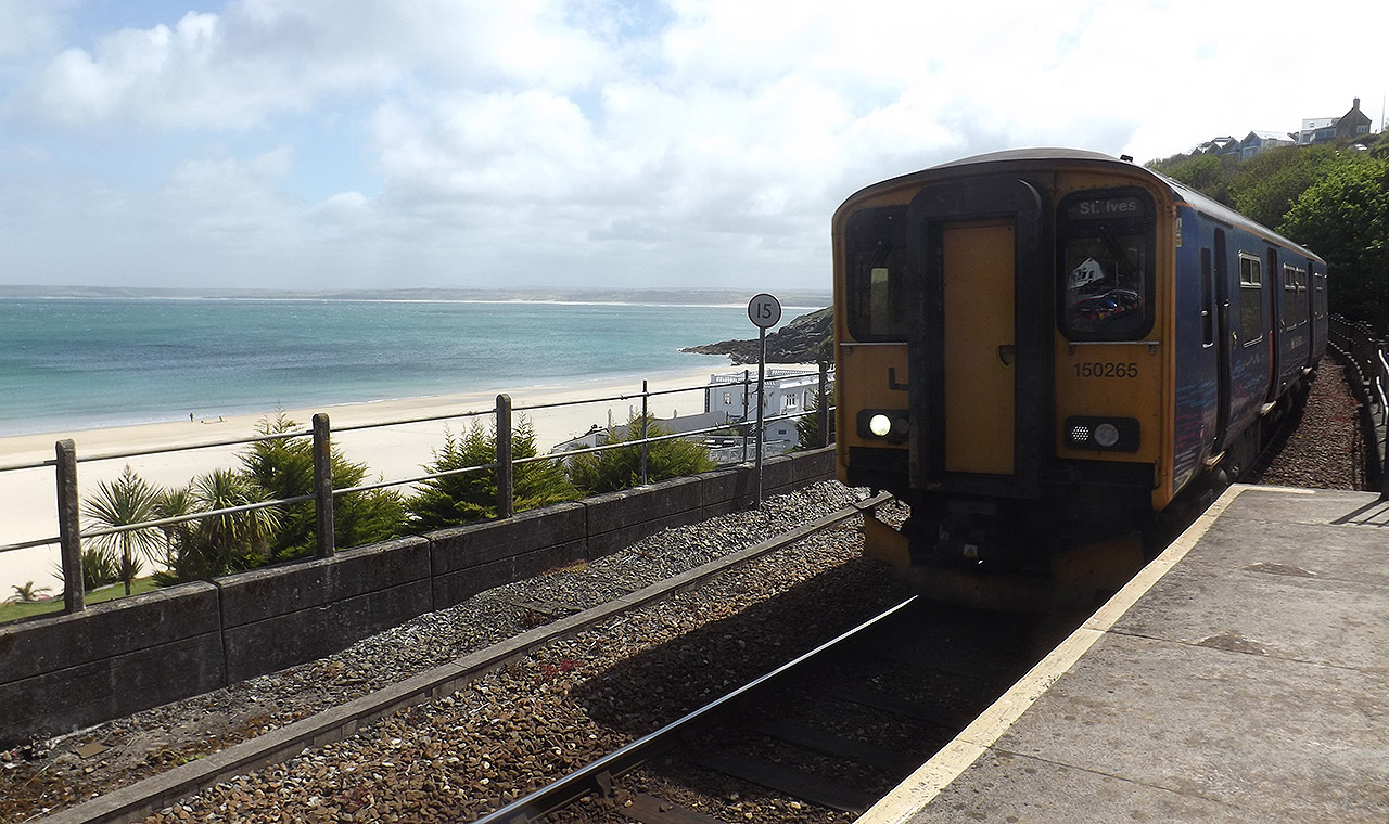 St Ives by train